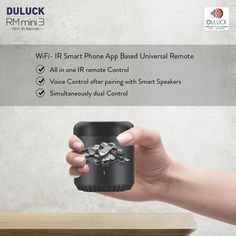 """Duluck Universal Remote controls all the appliances from your smartphone supported with the """"Broadlink App & IHC App"""" and Voice command (Alexa & Google Assistant). Google App Store, Radiation Exposure, Alexa App, Electronic Appliances, Universal Remote Control, Music System, App Control, Alexa Device, Home Automation"""