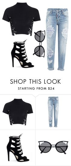 """Throwback"" by skajackson on Polyvore featuring Glamorous and Dsquared2"