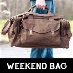 Personalized Groomsmen Gift Military Style Weekend Travel Duffel Bag Canvas Long Weekender