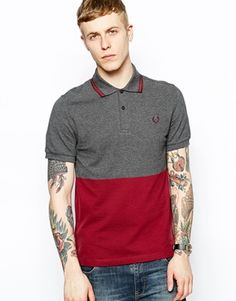 Fred Perry Laurel Wreath Polo with Block Colour