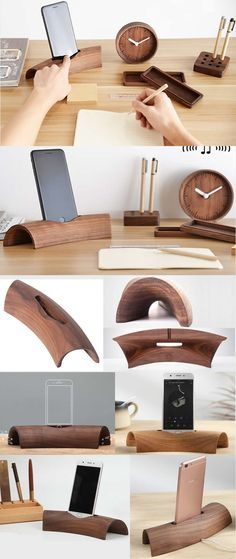Wooden Speaker Sound Amplifier iPhone SmartPhone Charging Station Stand Dock Mount Holder Charge Cord Cable Organizer With Pen Holder for iPhone 77 Plus6s6s Plus