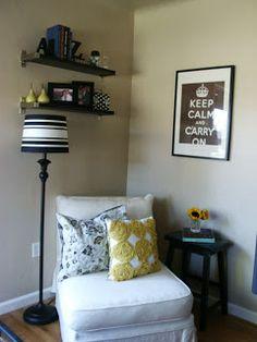 simply decorated corner idea