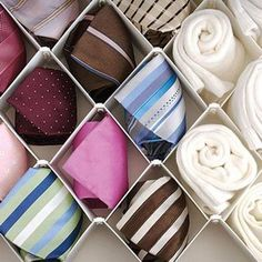 Howards Storage World | Diamond Drawer Organiser (for organization of socks and undies)