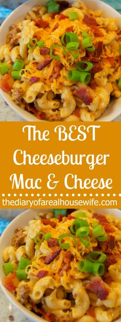 The BEST Cheeseburger Mac and Cheese
