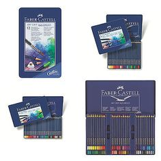 Faber-Castell Watercolor Pencil Art Grip Aquarelle Tin of 12, 24, 36, 60 - http://crafts.goshoppins.com/art-supplies/faber-castell-watercolor-pencil-art-grip-aquarelle-tin-of-12-24-36-60/
