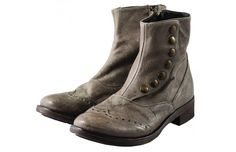 [HNGR 3480 WASH TAUPE] #RITAcollection #boots #lowheel #oxford #oriented #hangar #shoes