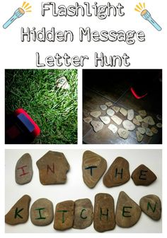 Flashlight Hidden Message Letter Hunt - fun nighttime activity for kids to do outdoors #StillGoing #ad @Energizer