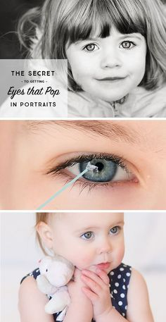 How to make sure your kids' eyes pop in photos. Love this photography tip for parents!