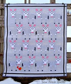 Sew Fresh Quilts: ZebraZ quilt in it's UNnatural habitat
