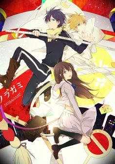 (Noragami) Yato, Yukine and Hiyori Iki Fanart Manga, Manga Art, Manga Anime, Anime Art, Anime Guys, Manhwa, Yukine Noragami, Chibi, Yatori