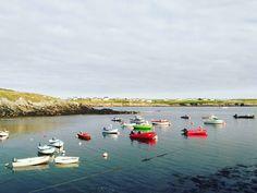 Île d'Ouessant - Couché de soleil sur le port de Lampaul. Finistère, Bretagne, France. (c) Marie Bambelle. Aucune utilisation sans mon accord préalable et sans mention.