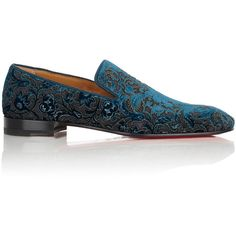 Christian Louboutin Men's Tudor Venetian Loafers ($995) ❤ liked on Polyvore featuring men's fashion, men's shoes, men's loafers, blue, mens venetian shoes, mens loafers, mens blue shoes, mens venetian loafers and mens loafer shoes