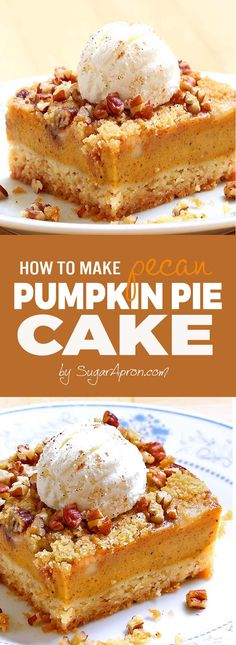 Pumpkin pie cake will be your new favorite pumpkin recipe! All the yummy flavors of a pumpkin pie but the heartiness of a cake. Pumpkin pie cake will be your new favorite pumpkin recipe! All the yummy flavors of a pumpkin pie but the heartiness of a cake. Pumpkin Pie Cupcakes, Pumpkin Pecan Pie, Mini Pumpkin Pies, Pumpkin Pie Recipes, Baked Pumpkin, Pumpkin Dessert, Fall Recipes, Desert Recipes, Pumpkin Spice