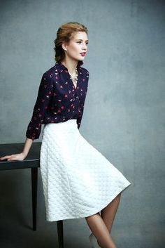 HD in Paris Dotted Jacquard Skirt