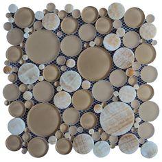 Stone glass and pebble tile