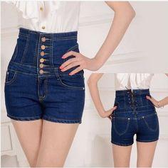 High Waist Slim Hip Plus Size Jeans Shorts - Uniqistic.com