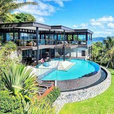 Dream Home Design, Modern House Design, Dream Mansion, Luxury Homes Dream Houses, Dream Homes, Modern Mansion, Dream House Exterior, Pool Houses, Glass Houses