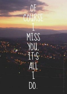 Of course I miss you, it's all I do. Picture Quotes.
