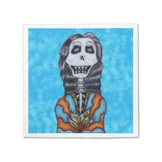 Colorful Happy Day of the Dead Skeleton Paper Napkin
