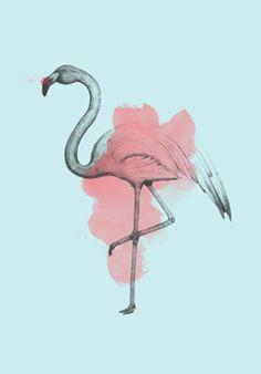 Flamingo Aquarela | Flamingo Watercolor | Poster | Colab55 | R$ 45,00 A4 | R$ 65,00 A3 | R$ 80,00 A2