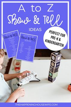 Complete List of OVER 250 Show & Tell Ideas A-Z!!