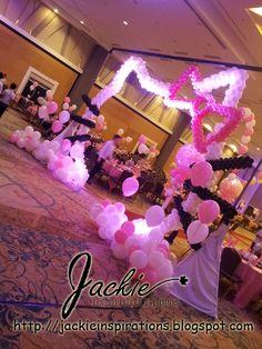 Decoraciones globo para bodas, fiestas de cumpleaños, esculturas con globos en Hello Kitty