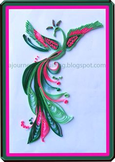 Journey into Quilling & Paper Crafting: Graphic Quilling - Colorful Paradise Bird