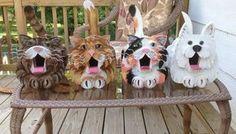 Cat's Meow Cat Birdhouse - YellowTabby