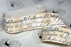 Vintage Style Old Documents Ribbon 1m length - Craft / Gift Wrap by Luck and Luck |Amazon