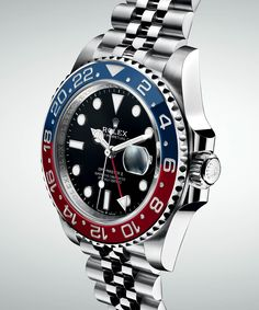 The new Rolex GMT-Master II Ref. 126710 BLRO watch for Baselworld 2018 with images, price, background, specs, & our expert analysis. Rolex Watches For Men, Seiko Watches, Luxury Watches For Men, Sport Watches, Cool Watches, Wrist Watches, Vintage Rolex, Vintage Watches, Rolex Submariner