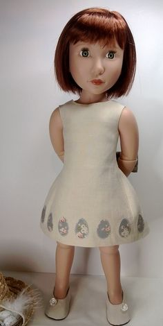 Easter dress and shoes for a girl for all time dolls by Gwendollys