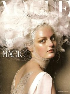 Vogue Italia, February 2005, Editorial on Victorian era couture, photos by Steven Meisel. Cover shown.