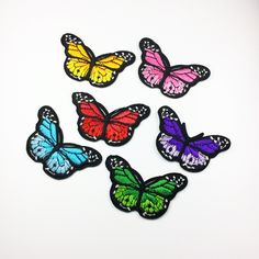 cute patch beautiful patch Butterfly patches embroidery decorative handmade gift embroidered sew on patch iron on patch 6.74.2cm (A42)