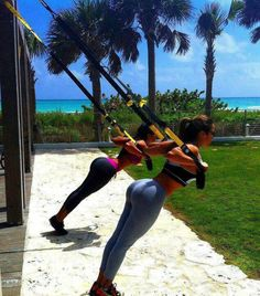Trx workout...