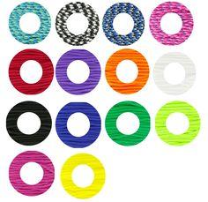 Retrouvez les différents coloris de Parachute Cord aussi appelé corde de survie. Créez bracelets et colliers grâce à ce cordon très résistant ! A partir de 0,80€ ici >>> http://www.perlesandco.com/Cordons_Parachute_Cord-c-139_2924_1992.html
