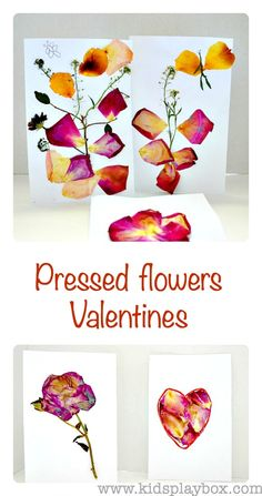 Quick Flower Pressing Technique for making cute cards for Valentine's day { or for any season really!!}