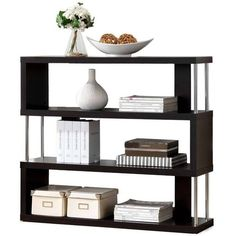 Modern Shelf by Baxton Studio ($94) ❤ liked on Polyvore featuring home, furniture, storage & shelves, bookcases, book display shelf, book display shelves, modern shelves, modern shelf and book-shelves