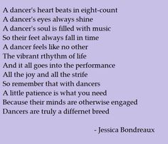 A dancer's heart beats in eight-count