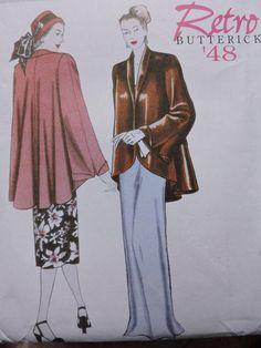 Jacket Loose Fitting Shawl Collar Retro '48 Fashion Cool Patterns, Sewing Patterns, Costume Patterns, Line Jackets, Stunningly Beautiful, Pattern Fashion, Women Wear, Feminine, Prom Dresses