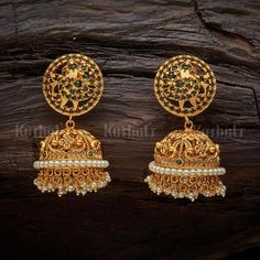Designer antique earrings studded with Synthetic Stones & Beads plated with gold polish, made of copper alloy! Gold Wedding Jewelry, Sparkly Jewelry, Gold Jewelry, Bridal Earrings, Women's Earrings, Fashion Earrings, Fashion Jewelry, Morganite Jewelry, Silver Earrings Online