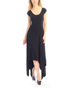 Look at this #zulilyfind! Black Handkerchief Dress #zulilyfinds