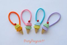 Double Scoop Ice Cream Button Ponytail by PrettyPonytails11, $7.00