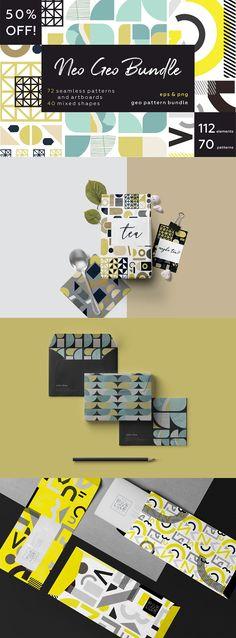 NEO GEO bundle. Geometry pattern. by lisa_kalev on @creativemarket