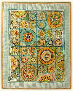 Theo's Garden by Marianne Burr Quilts=Art=Quilts, 2008 - Second Prize Award