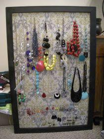 My Craft Projects: Jewelry Organizer