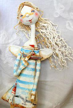 """Скоро : кукла """"Мальчишка в бескозырке """", развитие морской темы... - Ярмарка Мастеров - ручная работа, handmade"""