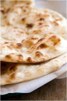 Naan Bread. Just put this recipe in the bread maker and then grilled both sides before drizzling with olive oil and fresh garlic slivers - yum yum yum.
