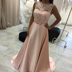 Sexy Prom Dresses,A-Line Sleeveless Lace Long Elegant Evening Dress PD20181403