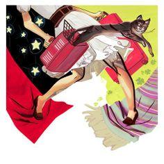 Illustration by Jussi Kaakinen for MeNaiset magazine, 2011 Finland Finland, Magazine, Graphic Design, Illustration, Anime, Art, Art Background, Kunst, Magazines