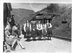 N: Bunadskledde kvinner frå Ryum på Håreina hp.
